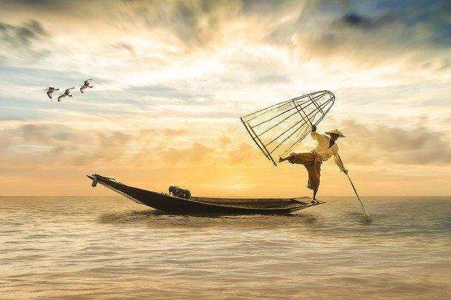 asijský rybář